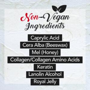 non vegan ingredients